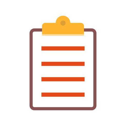 Appunti elenco piatto multi colore icona