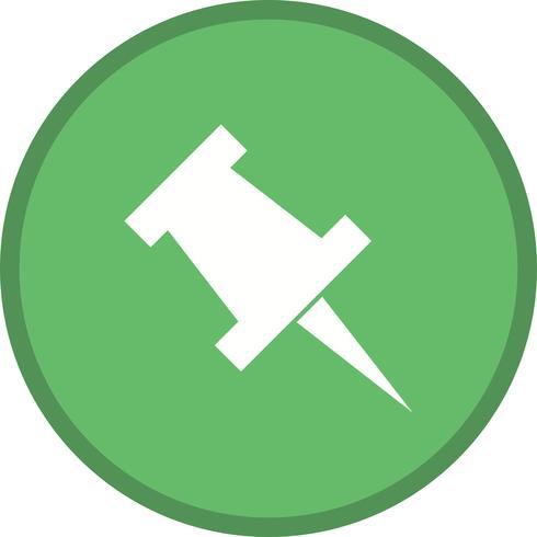 Ícone de push pin preenchido vetor