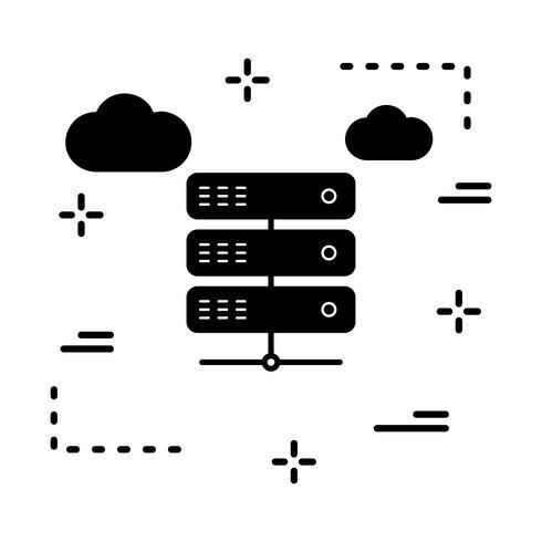 ícone do servidor de vetor