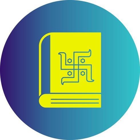 ícone de livro de diwali de vetor