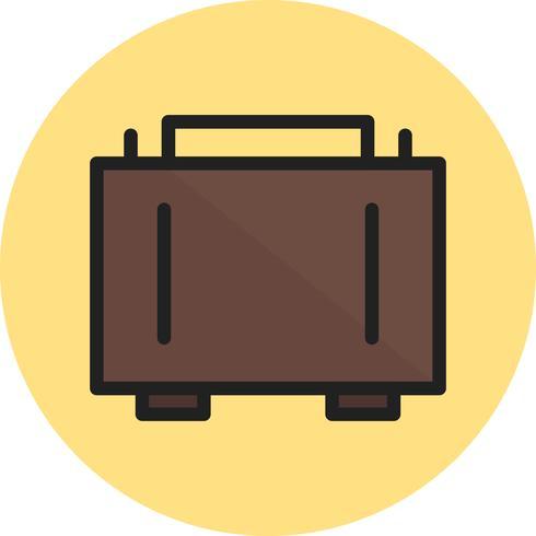 Aktenkofferlinie gefülltes Symbol