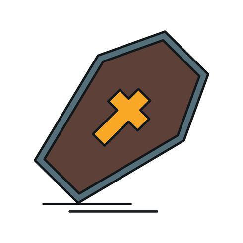 ícone de caixão de vetor
