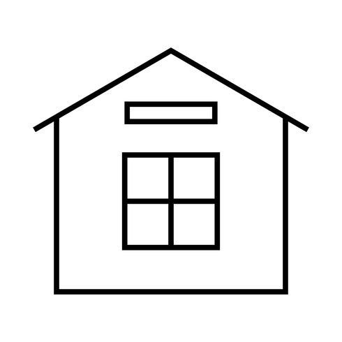 Icona di casa linea nera vettore