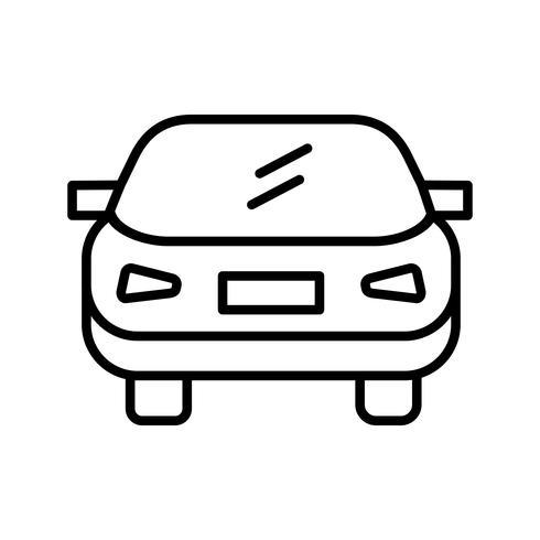 Icono de línea de coche negro vector