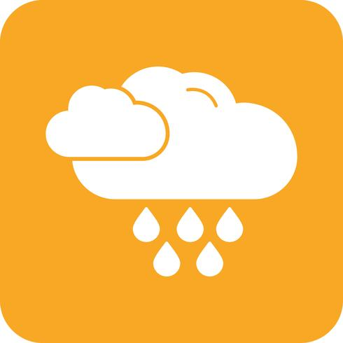 icône de pluie de vecteur