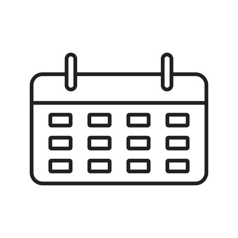 schwarze Linie des Kalenders