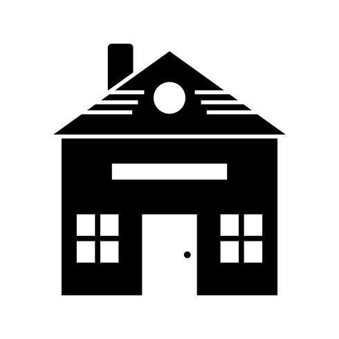 Icona del glifo casa nera vettore