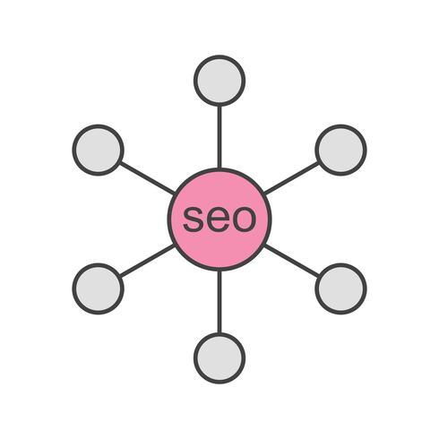 ícone de ligação de vetor seo