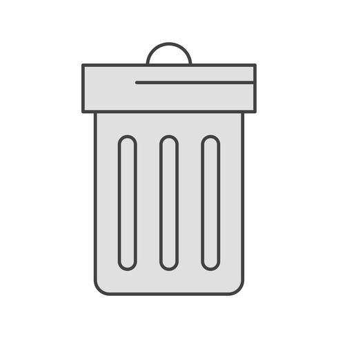 icono de la basura del vector