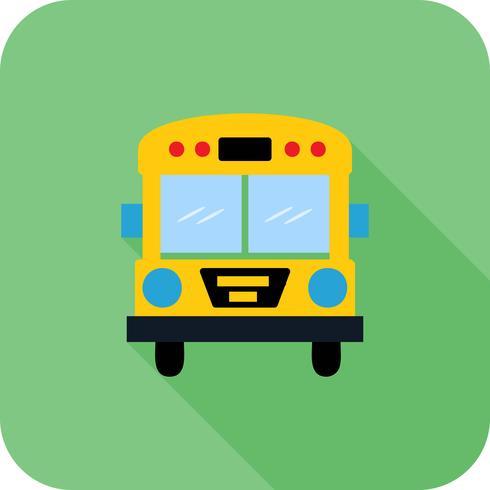 ônibus escolar canto redondo multi cor longa sombra BG vetor