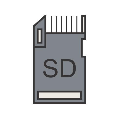 Icono de línea de almacenamiento de datos lleno