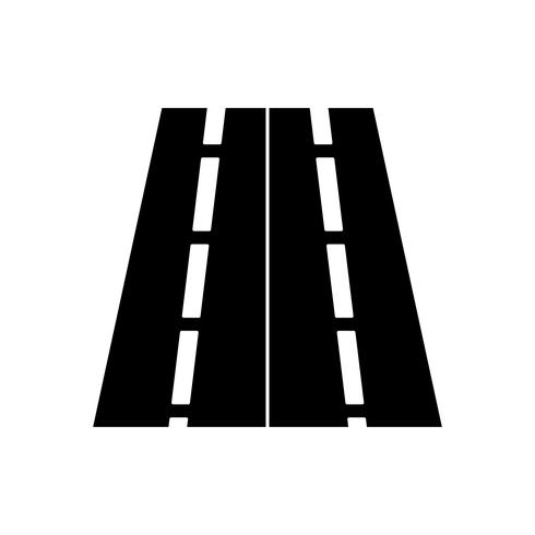 Icona del glifo della strada nera