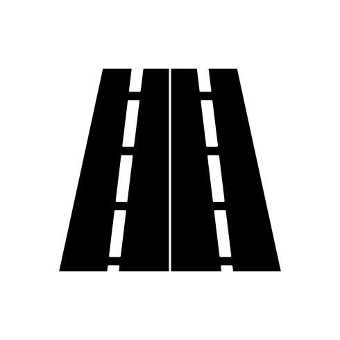 road glyph black icon