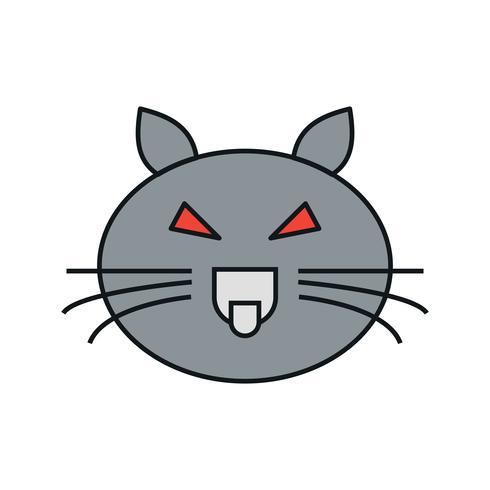 Vektor-Katze-Symbol vektor