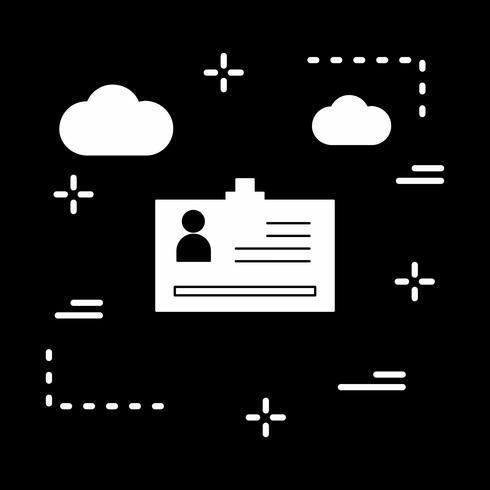 icono de tarjeta de identidad de vector