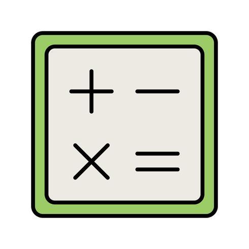 Icona linea di calcolo riempita