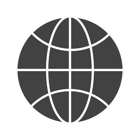 Ícone de glifo preto do navegador vetor