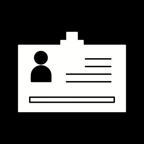 ícone de cartão de identidade de vetor