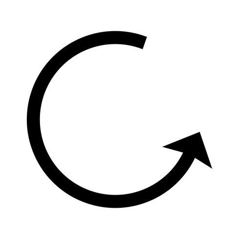 Icona del glifo con freccia destra destra vettore