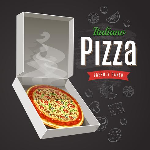 Hete pizza vector