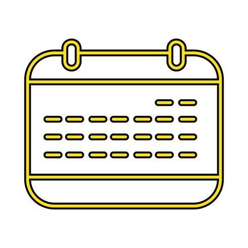 Kalender-perfekter Ikonen-Vektor oder Pigtogram-Illustration in gefüllter Art