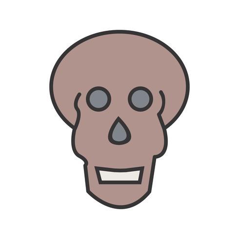 Gefüllte Ikone des Schädels x-Strahl
