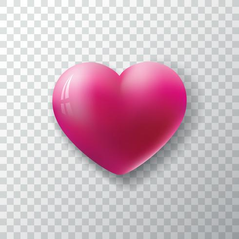 Valentines Day Background with glossy heart