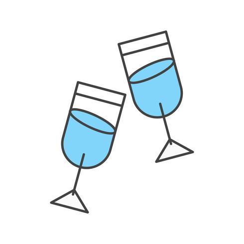 Vektor-Brille-Symbol