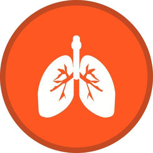 pulmones glifo redondo circulo multicolor