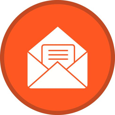 Mail gevuld pictogram