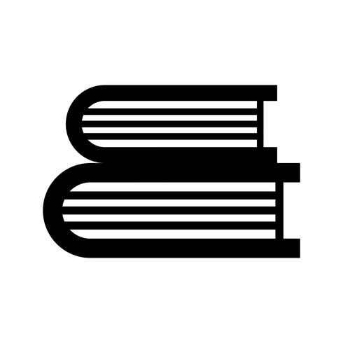 Bücher Glyphe schwarze Ikone