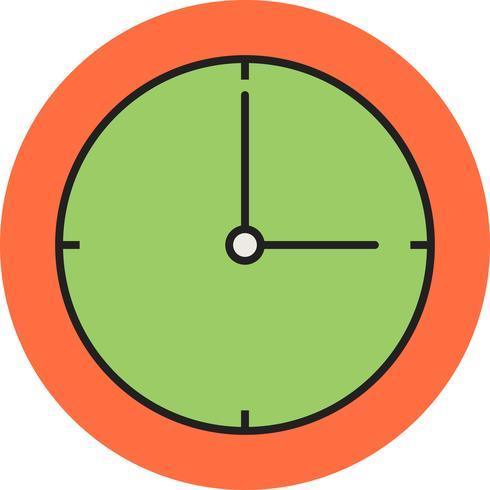 Icône ligne remplie d'horloge