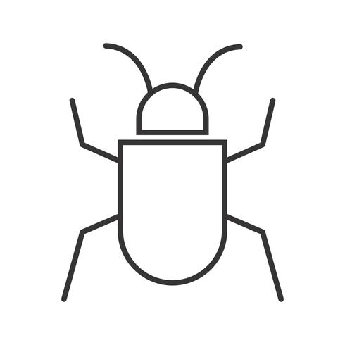 Fehlerlinie schwarzes Symbol