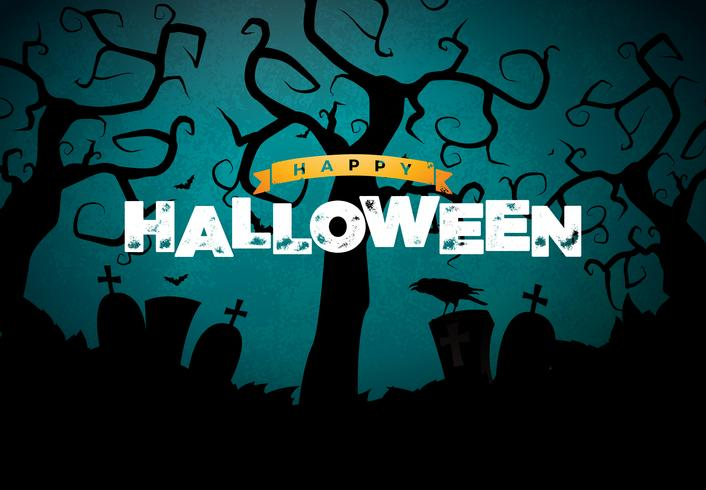 Happy Halloween banner afbeelding vector