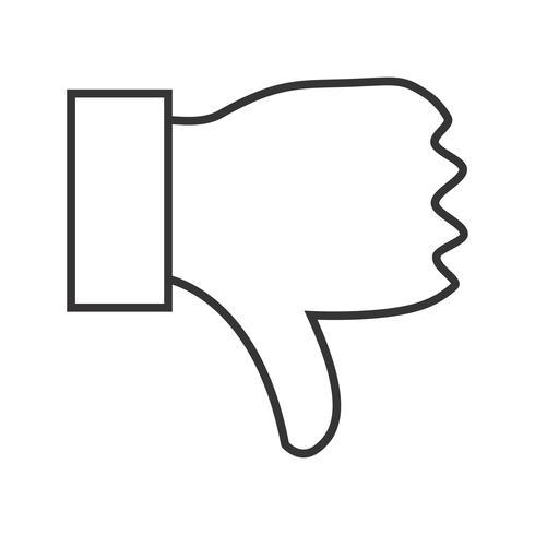Dislike line black icon