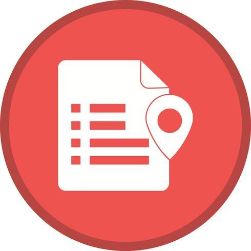 Hintergrundsymbol für die Einstellung des Dokumentstandort-Symbols