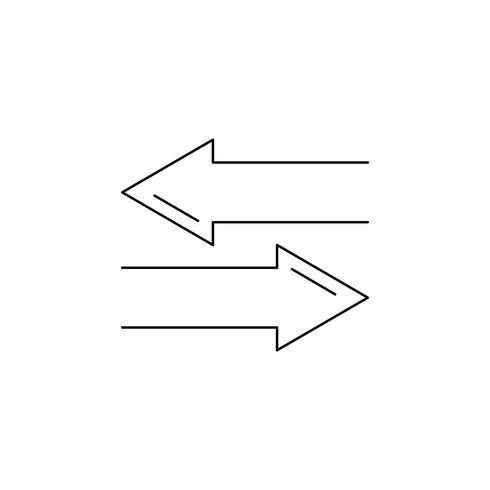 Direction line zwart pictogram