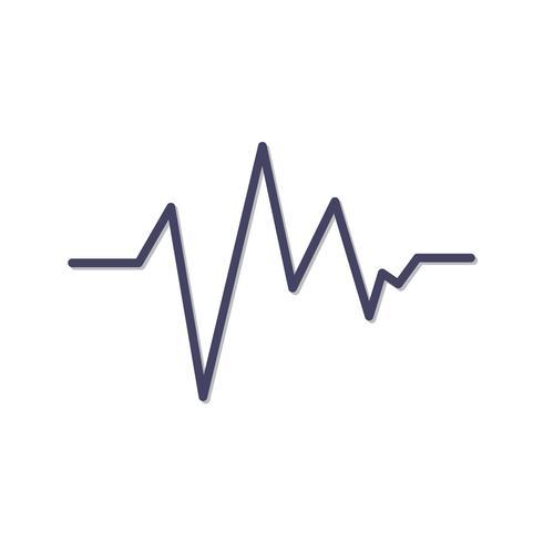 Ecg lijn zwart pictogram