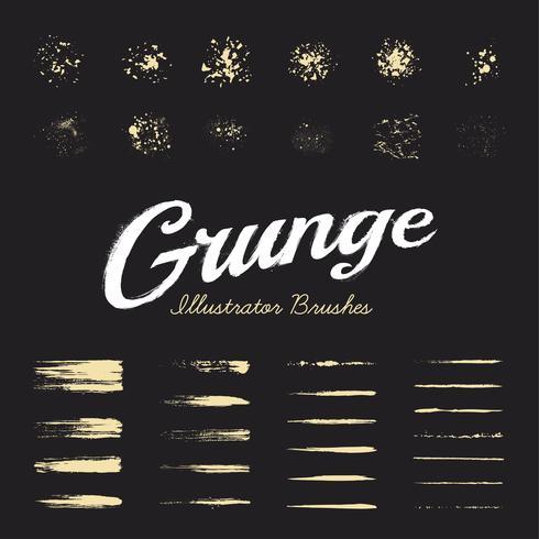 Conjunto de pinceles grunge