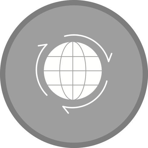 wereldwijde Glyph ronde cirkel vector