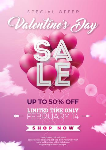 Valentines day sale illustration  vector