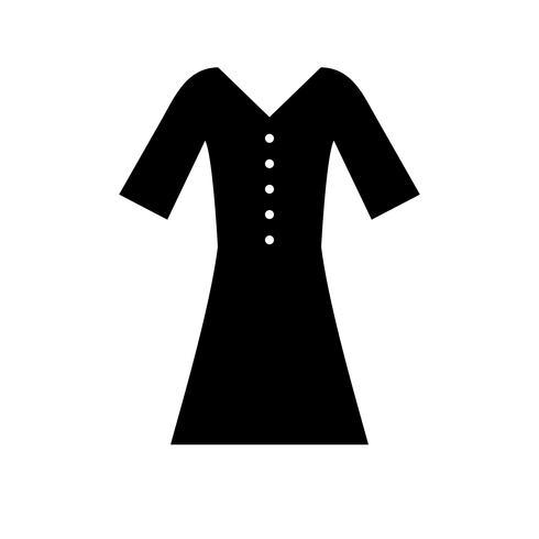 Icono de camisa glifo negro