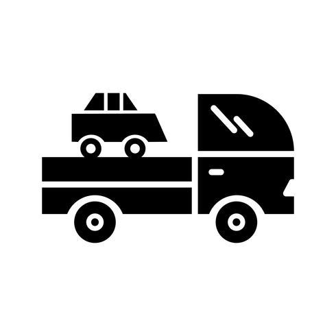 LKW-Glyphe schwarze Ikone