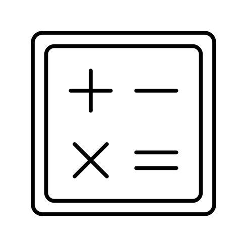 Calculator lijn zwart pictogram