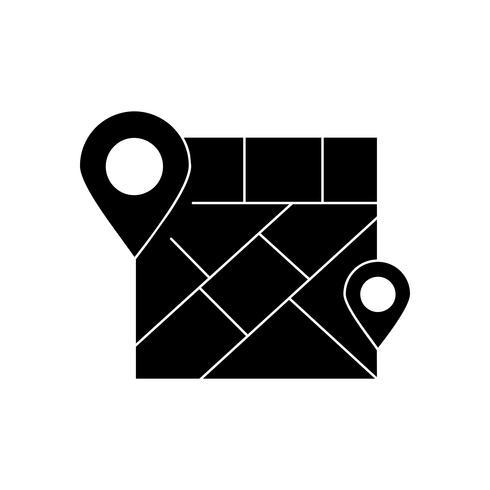 Schwarzes Symbol für Karten vektor