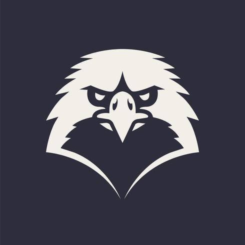 icona di vettore della mascotte dell'aquila