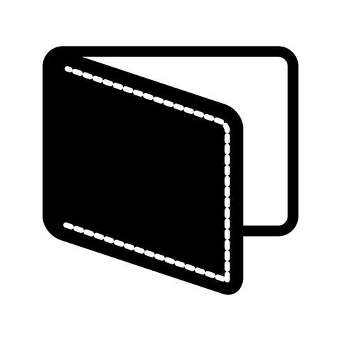 Portefeuille glyph zwart pictogram