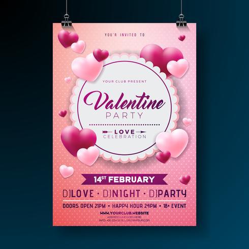 Valentinstag-Party-Flyer