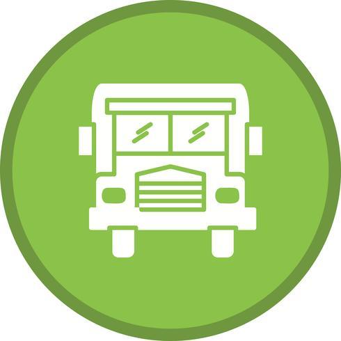 Ícone de plano de fundo do ônibus escolar glyph multi cor