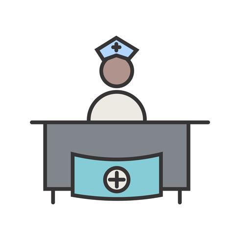 Ziekenhuis receptie lijn gevuld pictogram